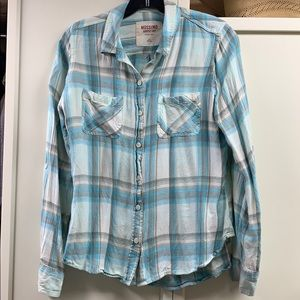 Super soft plaid button down